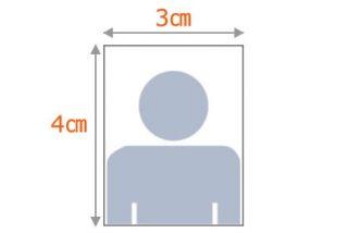 証明写真のサンプル