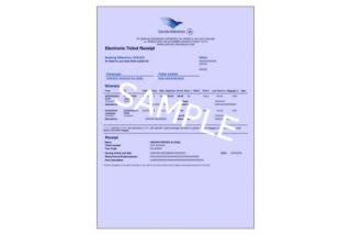e-ticketのサンプル