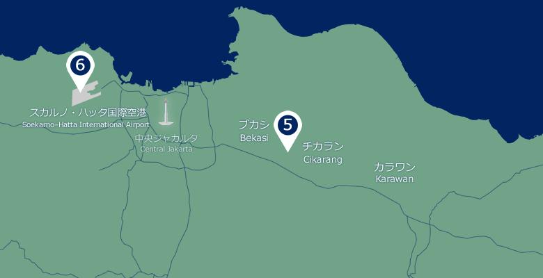 ジャワ島(拡大図)
